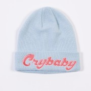 Embrodiered Cry Baby Flip Beanie