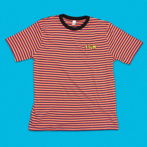 SCUM Embroidered Striped T-Shirt