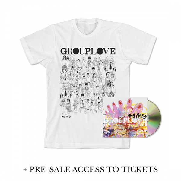 Grouplove Big Mess CD + T-Shirt Bundle