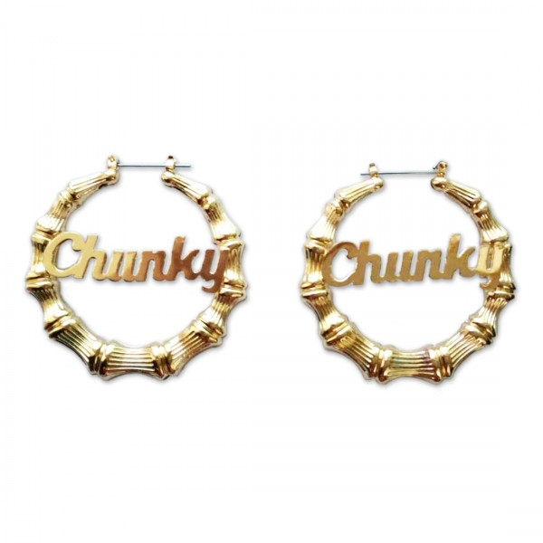 Chunky Script Earrings