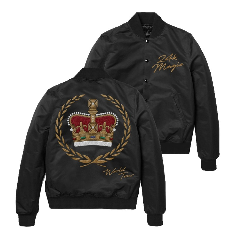 Bruno Mars Embroidered Satin Crown Jacket
