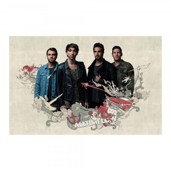 All Time Low UK Tour Poster