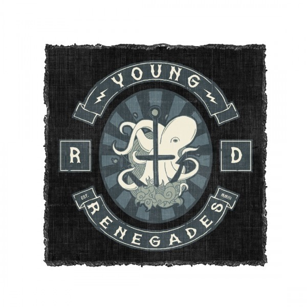 Screenprinted Octo Anchor Back Patch