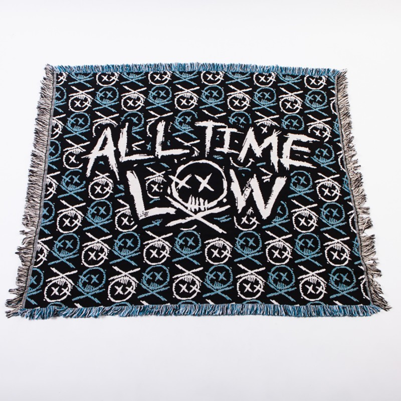 Skull Pattern Blanket Multi