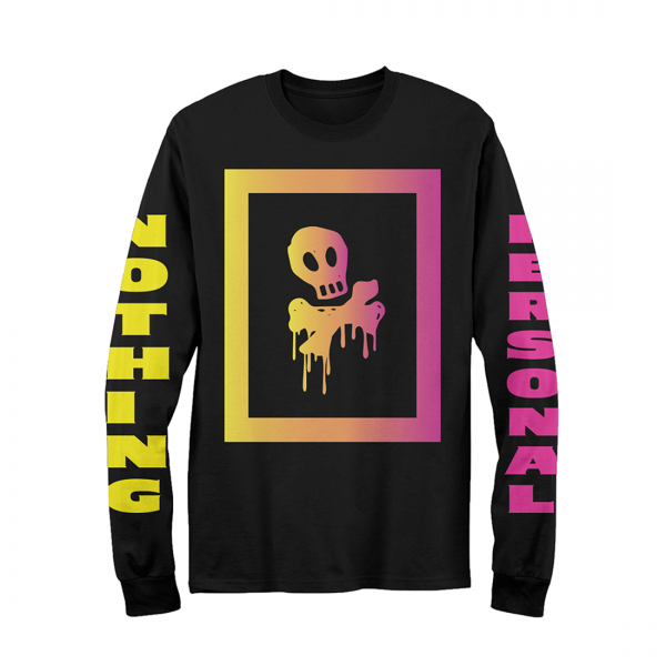 Nothing Personal Box Skull Long Sleeve Black