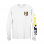 Nothing Personal Leopard Skull and Bones Long Sleeve White