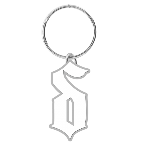 Icon Diecut Metal Keychain White