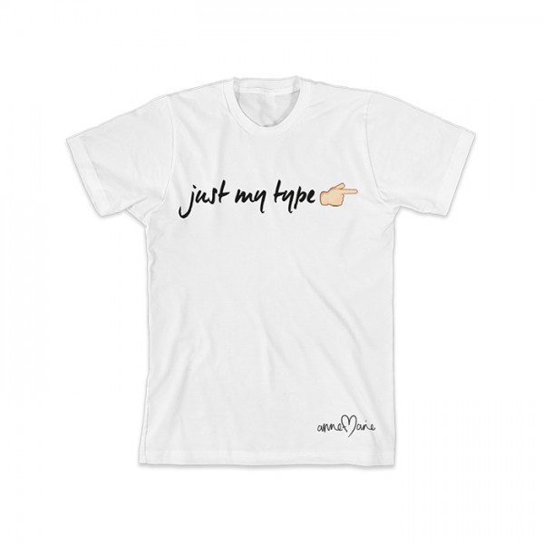Just My Type White T-Shirt