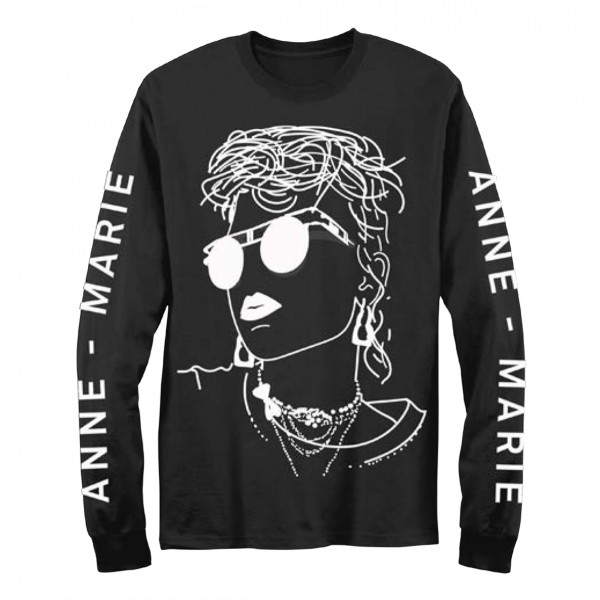 Anne-Marie Backdrop Long Sleeve T-Shirt
