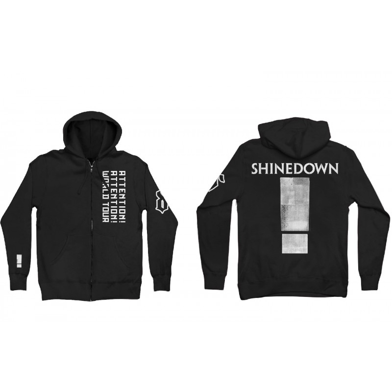 Big Attention Zip Hoodie