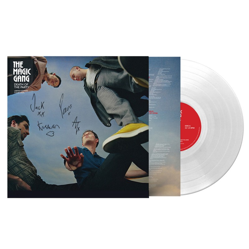 Signed Death of the party on clear vinyl.