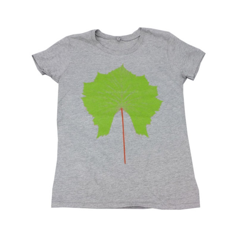 Womens Melange Grey Mutant Leaf T-Shirt