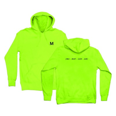 Mahalia Embroidered Hoodie Neon Green