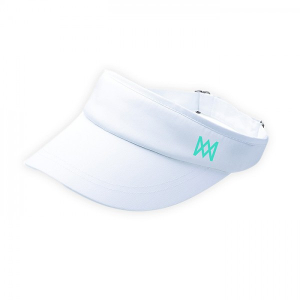AM Logo White Visor