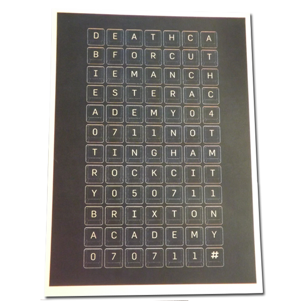 UK Keyboard Lithograph