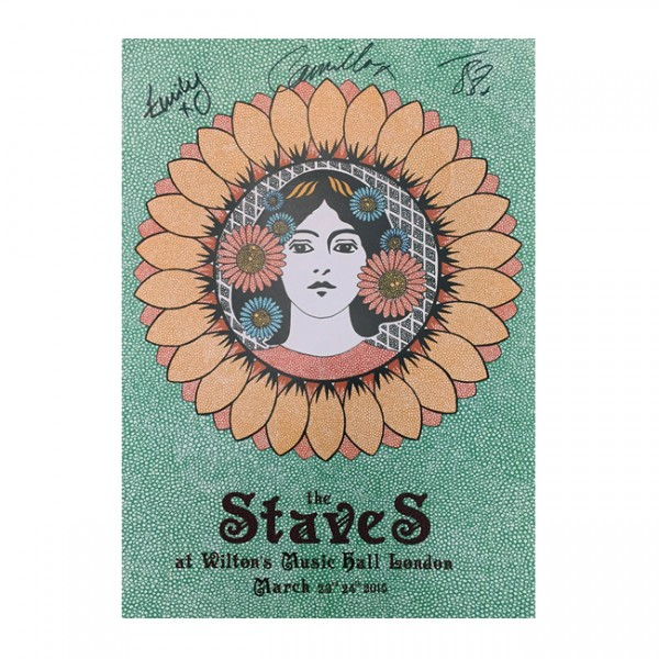 The Staves Wilton Music Hall Signed Poster