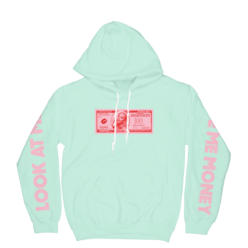 Give Me Money Hoodie Mint (Apparel)