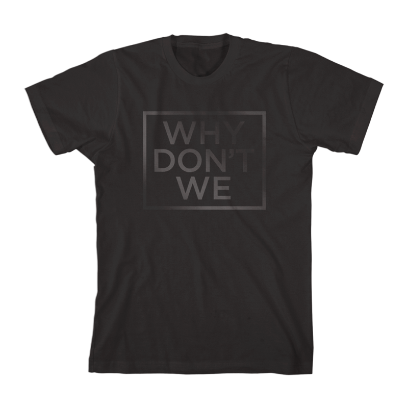 Why Don't We Why Don't We Black Print T-Shirt