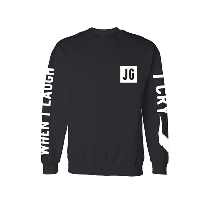 I Cry When I Laugh Black Sweater