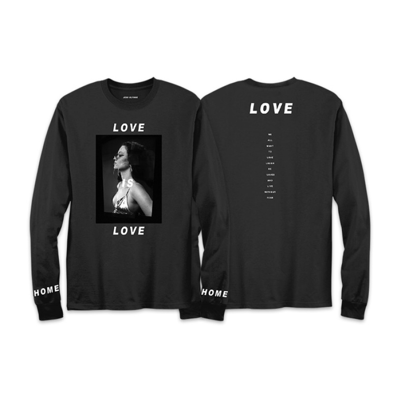 Jess Glynne - Love Is Love Long Sleeve T-Shirt (front/back)