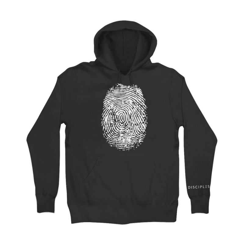 Thumbprint Black Hoodie - Disciples Merchandise