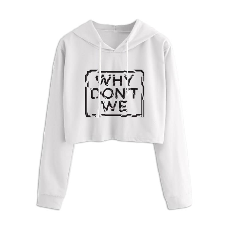 The Logo Crop Hoodie here features the band logo on a cropped hoodie.