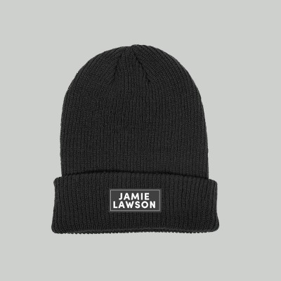 Label Black Beanie