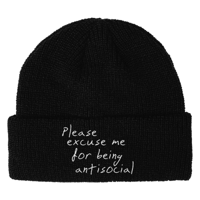 PLEASE EXCUSE ME BEANIE