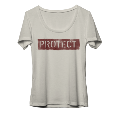 Protect Juniors Scoop Neck T-Shirt
