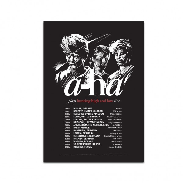 Hunting High and Low Tour Poster