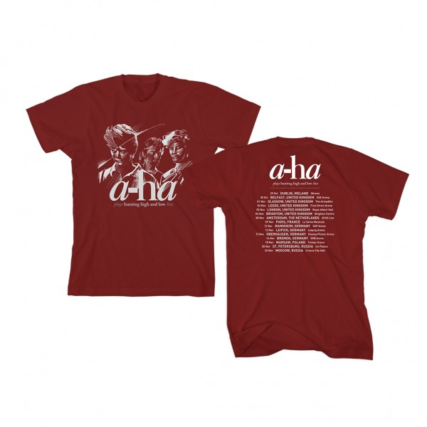 Hunting High and Low Tour T-Shirt Burgundy