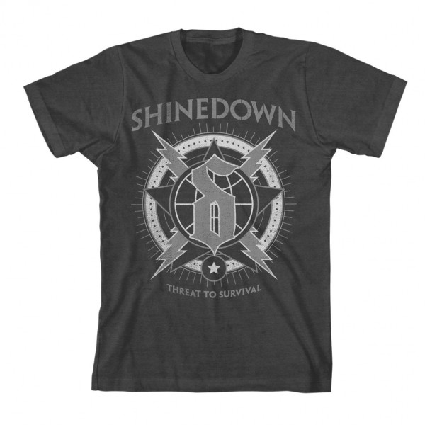 Shinedown Lightning Globe Slim Fit T-Shirt