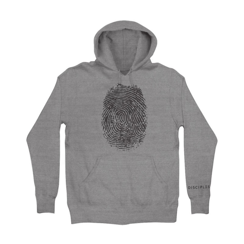 Thumbprint Grey Hoodie - Disciples Merchandise