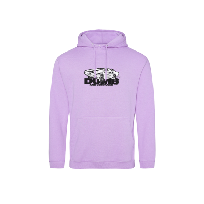 Dumb and Confused Purple Hoodie
