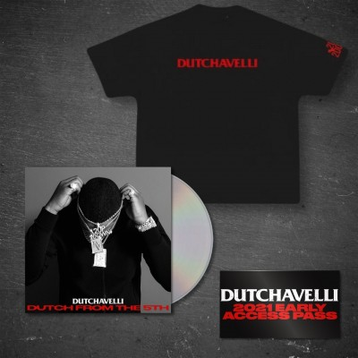 Dutch From The 5th CD + Black T-Shirt + Access Pass