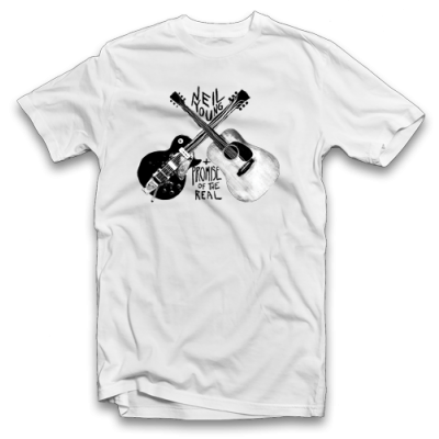 Guitar White T-Shirt (Apparel)
