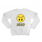 LUV Upside Down Smiley 2020 White Crewneck (Apparel)