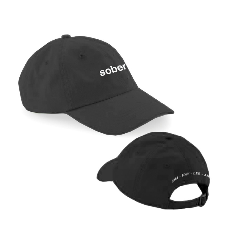 Sober Embroidered Cap Black
