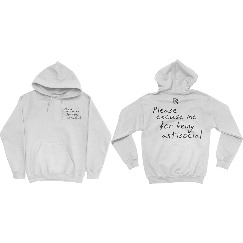 PLEASE EXCUSE ME HOODIE (WHITE)