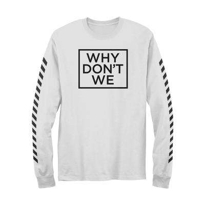 Why Don't We Why Don't We Long Sleeve (White)