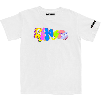 Wallows Four Stack White T-Shirt