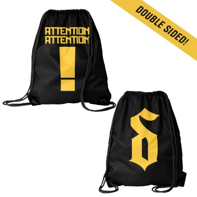 Attention Attention Drawstring Bag
