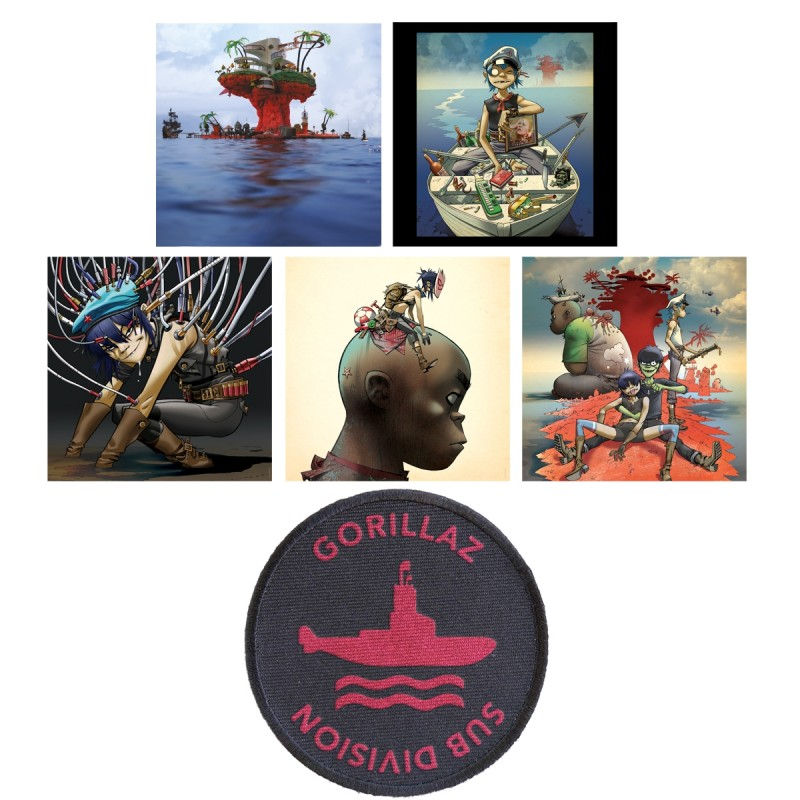 Plastic Beach Art Card and Patch Bundle