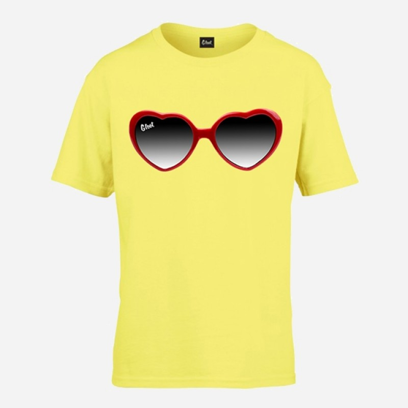 Kids Glasses Yellow T-Shirt