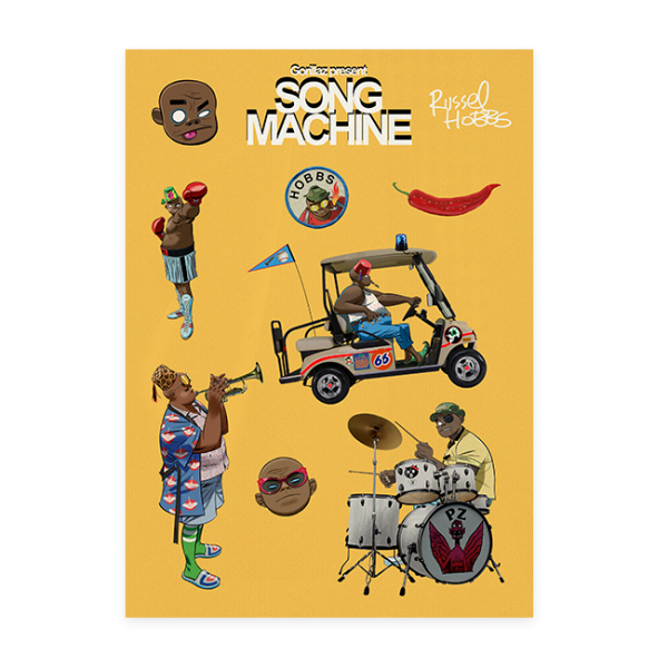 Song Machine Russel Sticker Pack