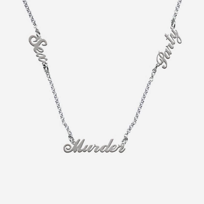 Sex Murder Party Silver Necklace