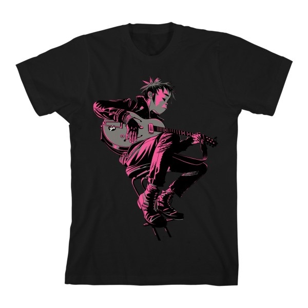 2D Guitar T-Shirt Black
