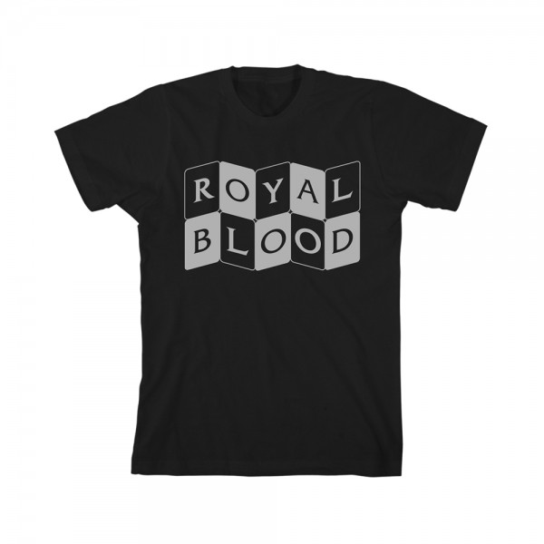 Curved Cards Royal Blood reversed T-shirt-Black