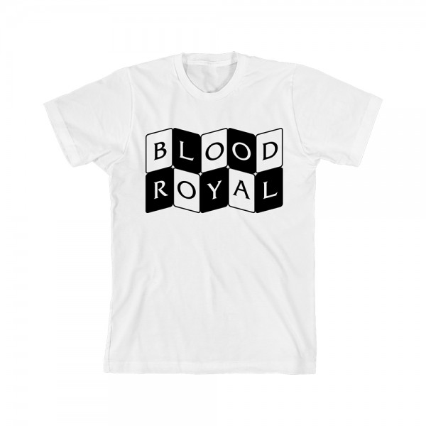 Curved Cards Blood Royal T-shirt White