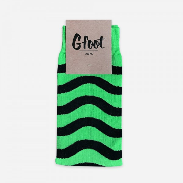Wavey Green Dress Socks